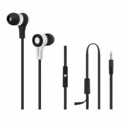 Słuchawki z mikrofonem Qoltec biało-czarne