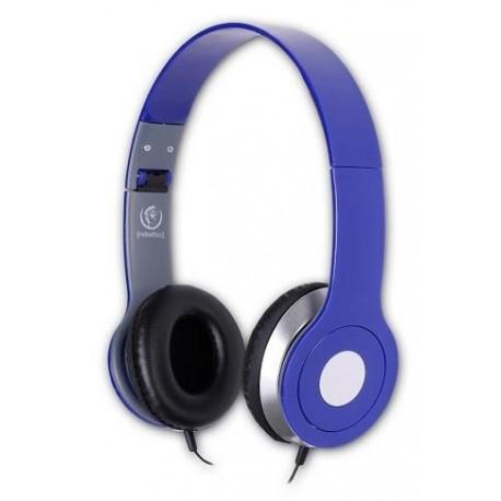 Słuchawki z mikrofonem Rebeltec CITY niebieskie