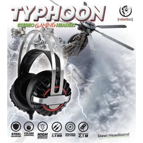 Słuchawki z mikrofonem Rebeltec TYPHOON Gaming stereo