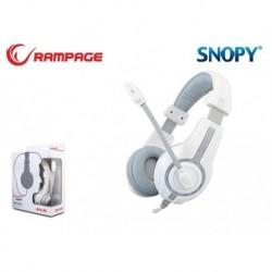 Słuchawki z mikrofonem Rampage SN-R1 Gaming biało-szare