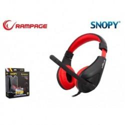 Słuchawki z mikrofonem Rampage SN-R2 Gaming czarno-czerwone