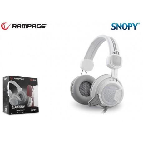 Słuchawki z mikrofonem Rampage SN-R8 Gaming białe
