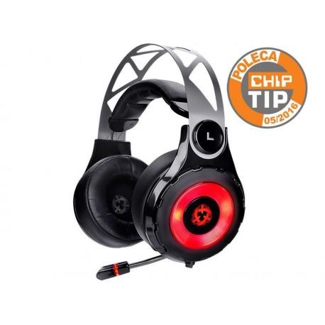 Słuchawki z mikrofonem RAVCORE Supersonic 7.1 czarne