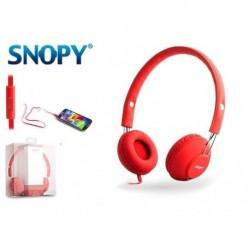 Słuchawki z mikrofonem SNOPY SN-933 czerwone