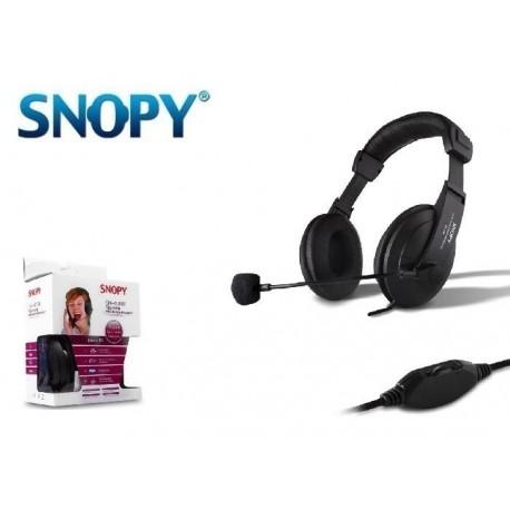 Słuchawki z mikrofonem SNOPY SN-4388 czarne