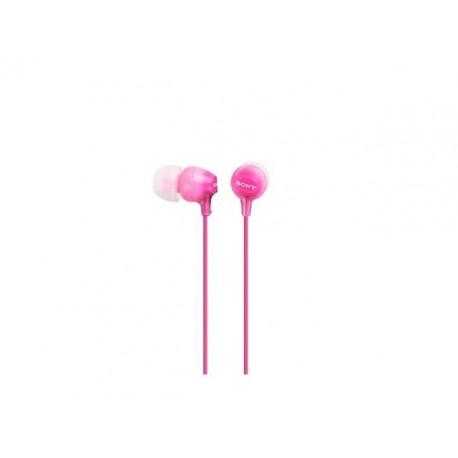 Słuchawki z mikrofonem Sony MDR-EX15APP różowe