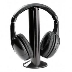Słuchawki z mikrofonem Titanum Fm Liberty bezprzewodowe czarne