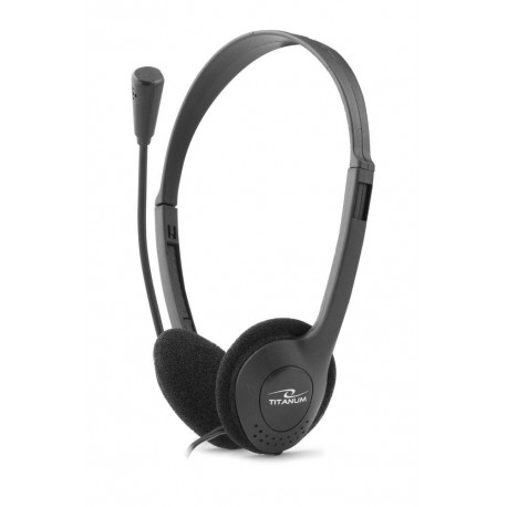 Słuchawki z mikrofonem Titanum Rave szare