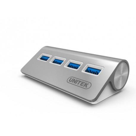 Hub Unitek Y-3186 4x USB 3.0 aluminium