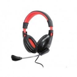 Słuchawki z mikrofonem TRACER BATTLE HEROES Dizzy czarno-czerwone