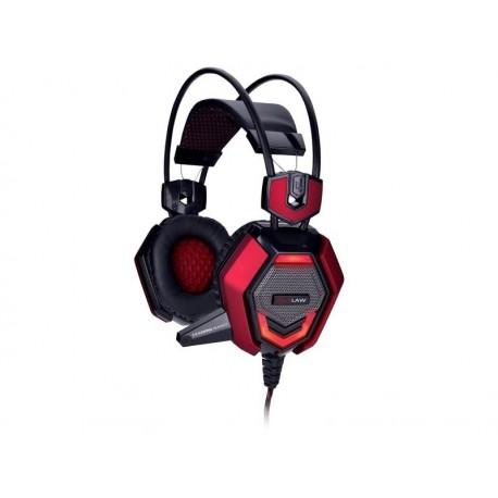Słuchawki z mikrofonem TRACER BATTLE HEROES Outlaw czarno-czerwone