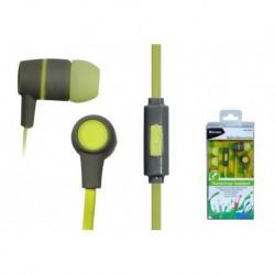 Słuchawki z mikrofonem Vakoss SK-214G szaro-żółte