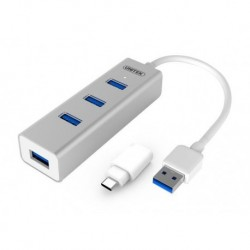 Hub Unitek Y-3082B 4x USB 3.0 + USB Typ-C