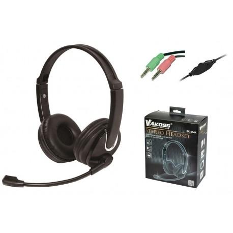 Słuchawki z mikrofonem Vakoss SK-504K czarne