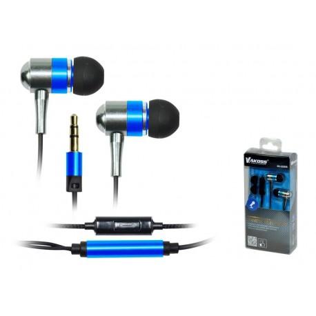 Słuchawki z mikrofonem Vakoss SK-225EB niebiesko-srebrne