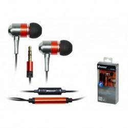 Słuchawki z mikrofonem Vakoss SK-225ER czerwono-srebrne