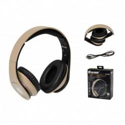 Słuchawki z mikrofonem VAKOSS SK-378G składane czarno-złote