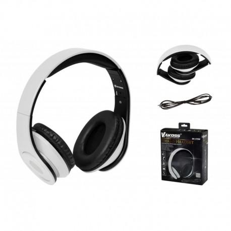 Słuchawki z mikrofonem VAKOSS SK-378W składane czarno-białe