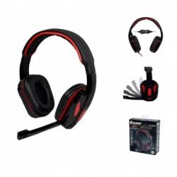 Słuchawki z mikrofonem VAKOSS SK-355KR czarno-czerwone