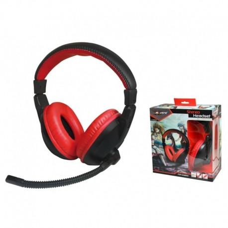 Słuchawki z mikrofonem X-ZERO X-H350HK Gaming czarno-czerwone