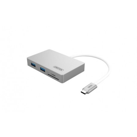 Hub Unitek Y-9319 Typ-C- 2x USB 3.0 +SD Power Delivery