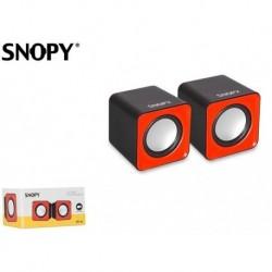 Głośniki 2.0 Snopy SN-66 Red USB