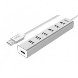 HUB Unitek Y-2183 7x USB 2.0 +zasilacz  Y-2183 aluminiowy