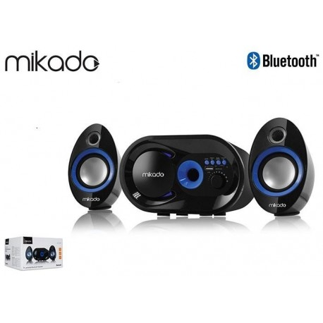 Głośniki Mikado MD-209BT 2+1 Black USB+SD+FM+Bluetooth Pilot
