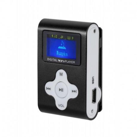 Odtwarzacz MP3 / Dyktafon / Radio FM Quer z LCD czarny