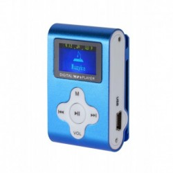 Odtwarzacz MP3 / Dyktafon / Radio FM Quer z LCD niebieski
