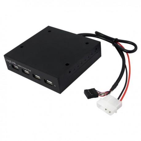 """Hub wewnętrzny UA0074 LogiLink USB2.0 3,5"""""""