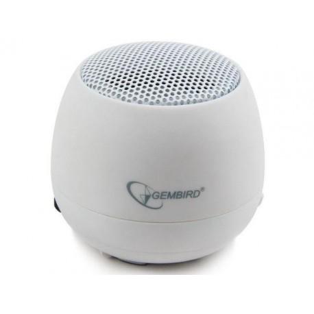 Głośnik Gembird portable z wbudowaną baterią  white