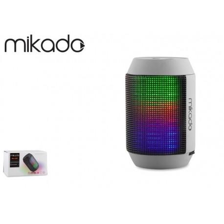 Głośnik Bluetooth Mikado MD-15BT Grey microSD Radio FM LED Show