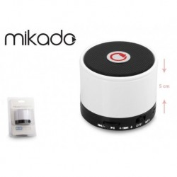 Głośnik Bluetooth Mikado MD-10BT White Mikrofon Radio FM Metalowy