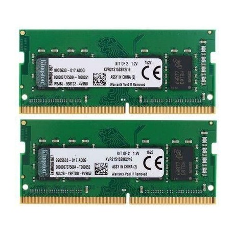 Pamieć DDR4 Kingston SODIMM 16GB (2x8GB) 2133MHz 1Rx8 CL15 1.2V