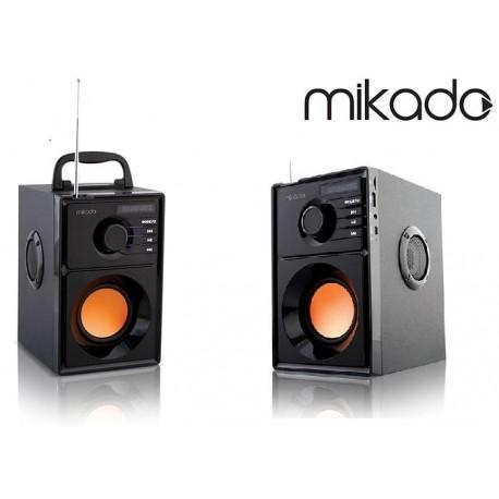 Głośnik BOOMBOX Mikado MD-10B 10W +5W USB+SD+FM+Bluetooth Karaoke LED