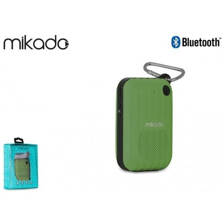Głośnik Bluetooth Mikado MD-22BT Green Mikrofon Radio FM MicroSD