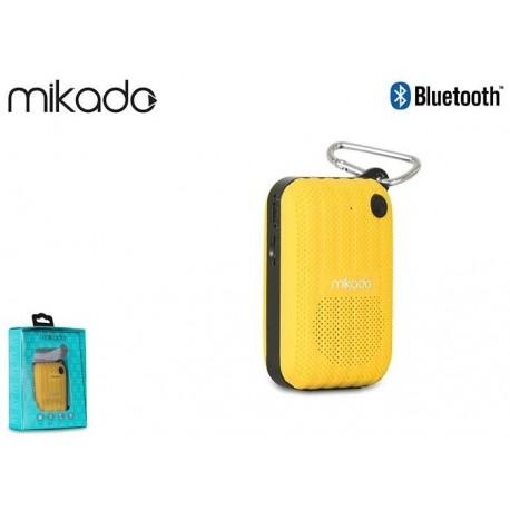 Głośnik Bluetooth Mikado MD-22BT Yellow Mikrofon Radio FM MicroSD