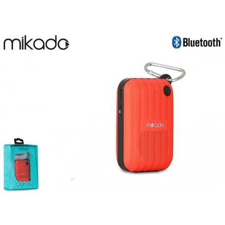 Głośnik Bluetooth Mikado MD-22BT Red Mikrofon Radio FM MicroSD