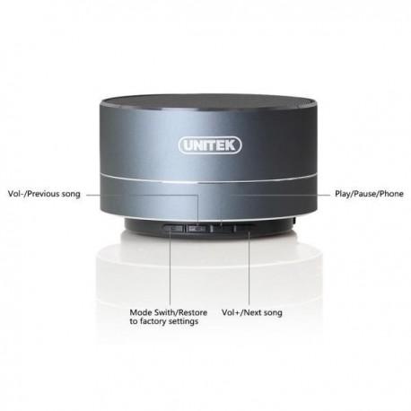 Głośnik Bluetooth Unitek Y-B101GY, szary