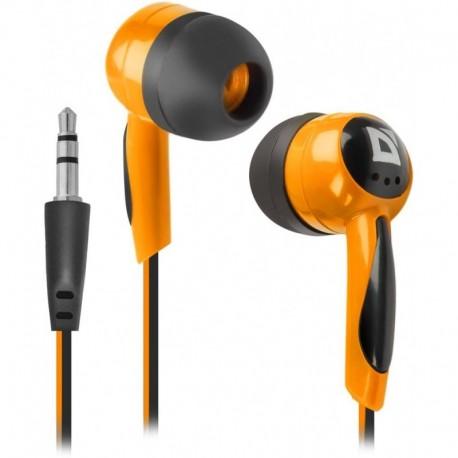 Słuchawki DEFENDER BASIC 604 douszne czarno-pomarańczowe