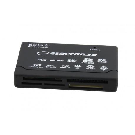 Uniwersalny czytnik kart pamięci Esperanza EA119 USB 2.0