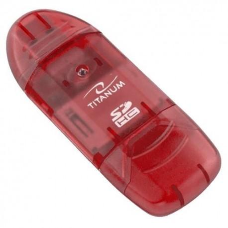 Titanum Czytnik Kart SDHC/MicroSDHC TA101R (SDHC Pen Drive)