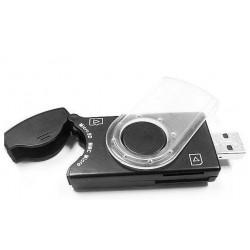 Czytnik kart Gembird Pendrive SIM/SD/MMC/MS Black USB 2.0