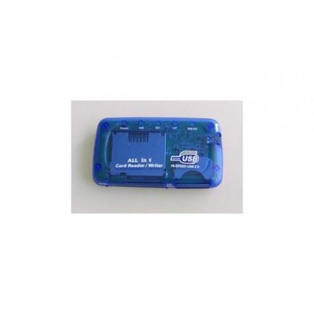 Czytnik kart Gembird ALL-IN-ONE USB 2.0 BLUE