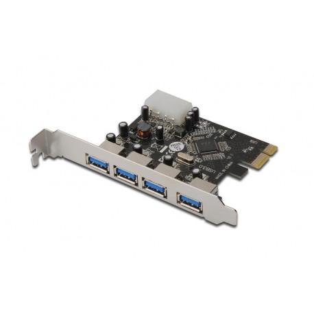 Kontroler USB3.0 DIGITUS PCI Express, 4xUSB3.0, Chipset: VL805