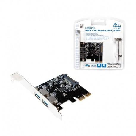 Karta kontroler LogiLink PC0080 PCI Express 2x USB 3.1