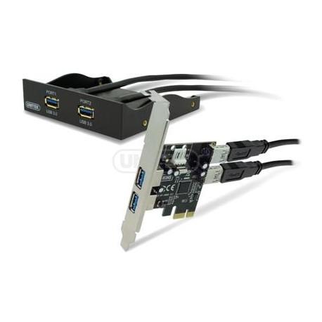 "Panel Unitek Y-6119 3.5"" 4 x USB 3.0 z kontr. PCIE"