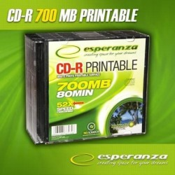 CD-R ESPERANZA 56x 700MB (Slim 10) PRINTABLE FULLFACELE