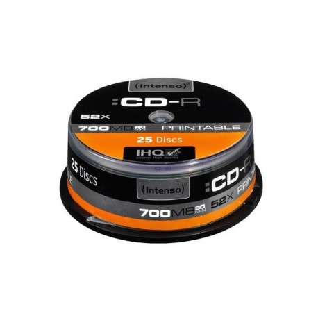CD-R INTENSO 700MB PRINTABLE (25 CAKE)